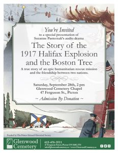 The Story of the 1917 Halifax Explosion and The Boston Tree @ Glenwood Chapel