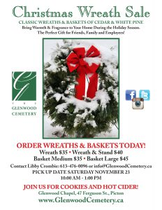 Annual Christmas Wreath & Basket Sale @ Glenwood Chapel